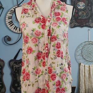 H&M Floral Tank Top sz 6, Thrifted